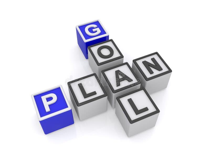 Plan och mål royaltyfri illustrationer