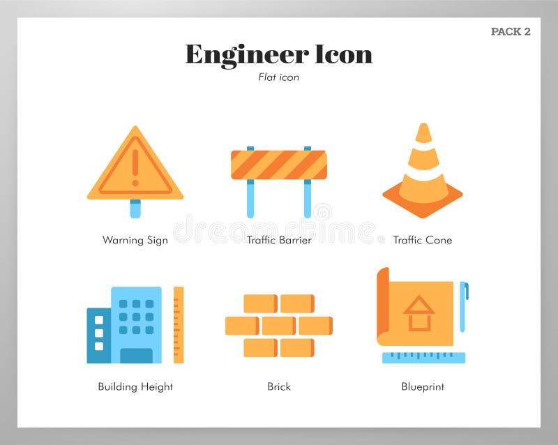 Plan packe f?r teknikersymboler stock illustrationer