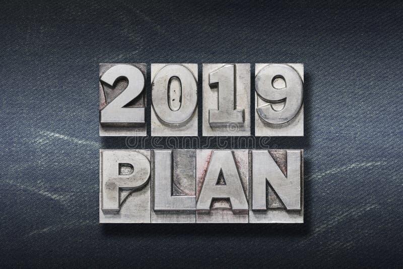 2019 plan den stock photography