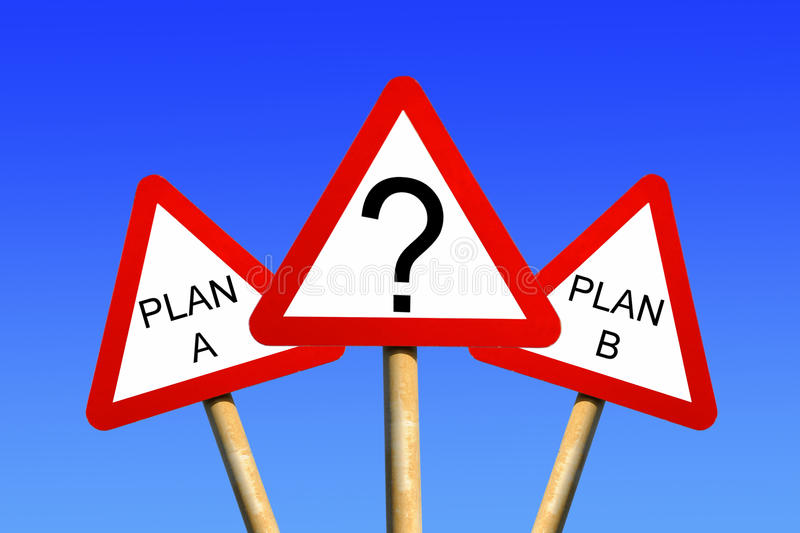 Plan A Plan B Stock Images