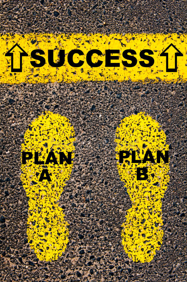 Plan A Plan B to Success message. Conceptual image stock photography