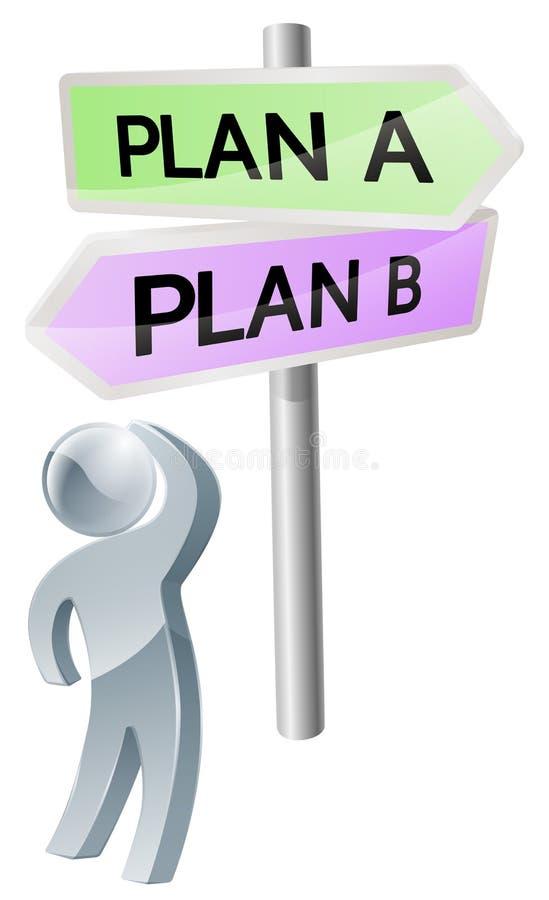 Plan A of Planb besluit stock illustratie
