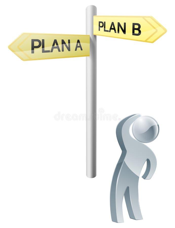 Plan A of Planb Keus royalty-vrije illustratie