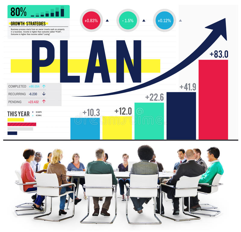 Plan Planning Development Business Strategy Concept royalty free stock images