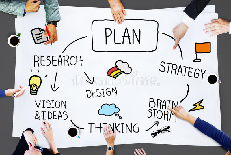 Plan Planning Process Mission Development Concept royalty free stock images
