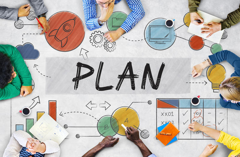 Plan-Planungs-Geschäft Sttrategy-Datenanalyse-Konzept lizenzfreies stockfoto