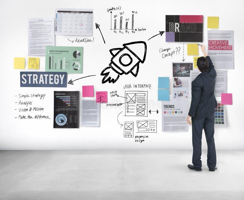 Plan-Planungs-Strategie Bysiness-Ideen-Konzept vektor abbildung