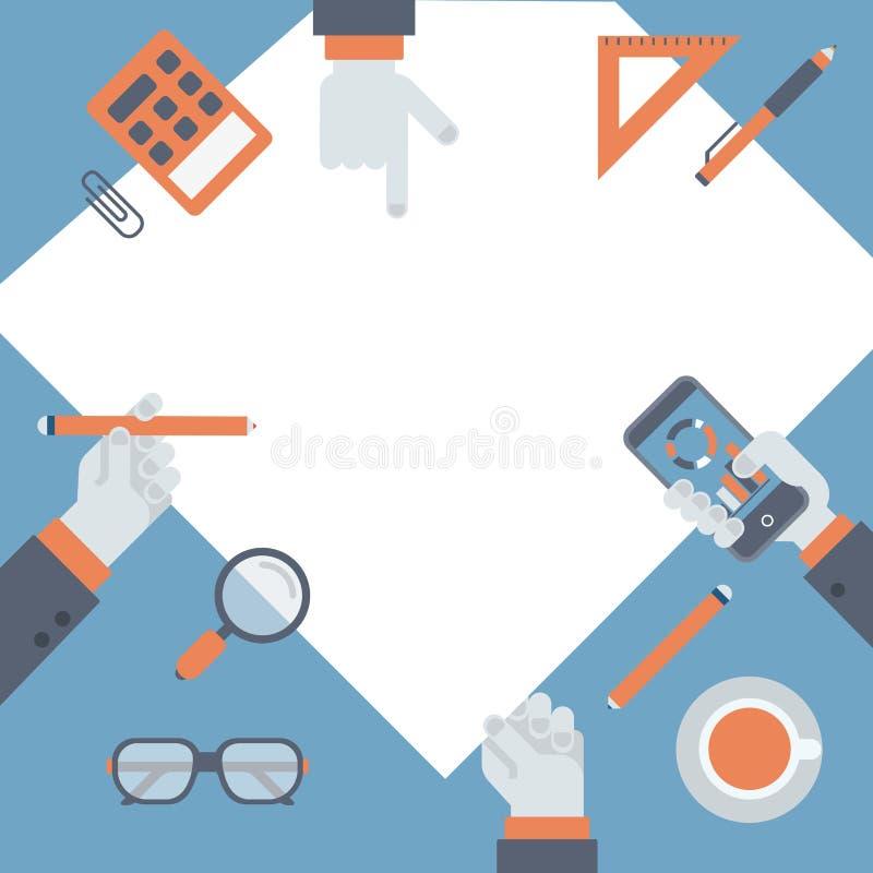 Plan projektledning, begrepp för idé för affärsforskning nytt royaltyfri illustrationer