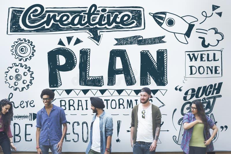 Plan que planea concepto de proceso de las táctica de la estrategia de Vision imagen de archivo