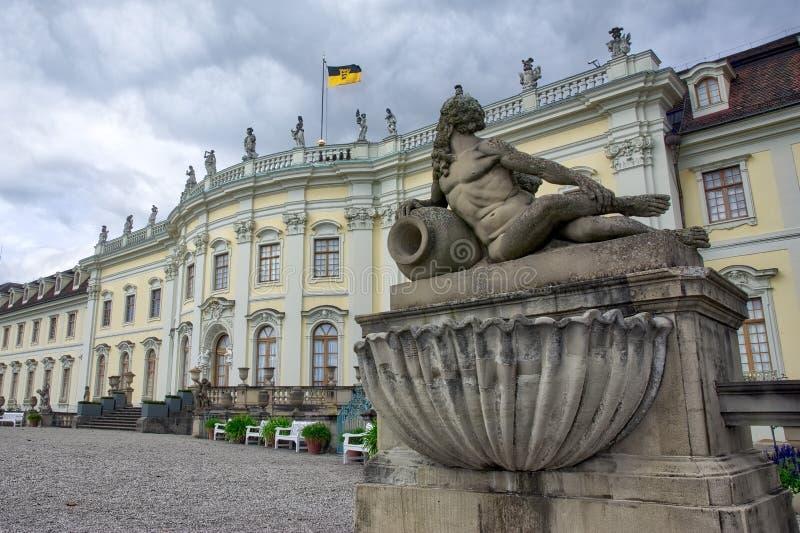 Plan rapproché architectural Allemagne L célèbre de détail de palais de Ludwigsburg photo stock