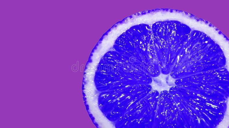 Plan rapproché bleu créatif de citron photos stock