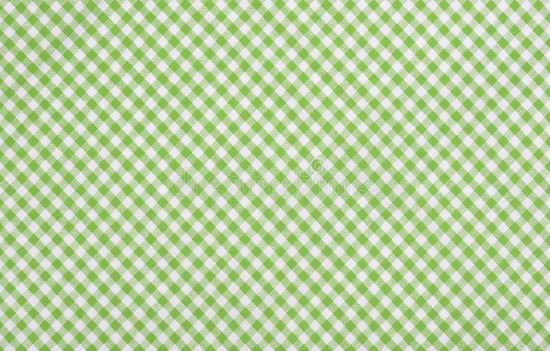Tissu checkered vert image stock