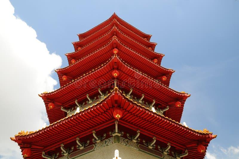 Plan rapproché chinois de pagoda photos libres de droits