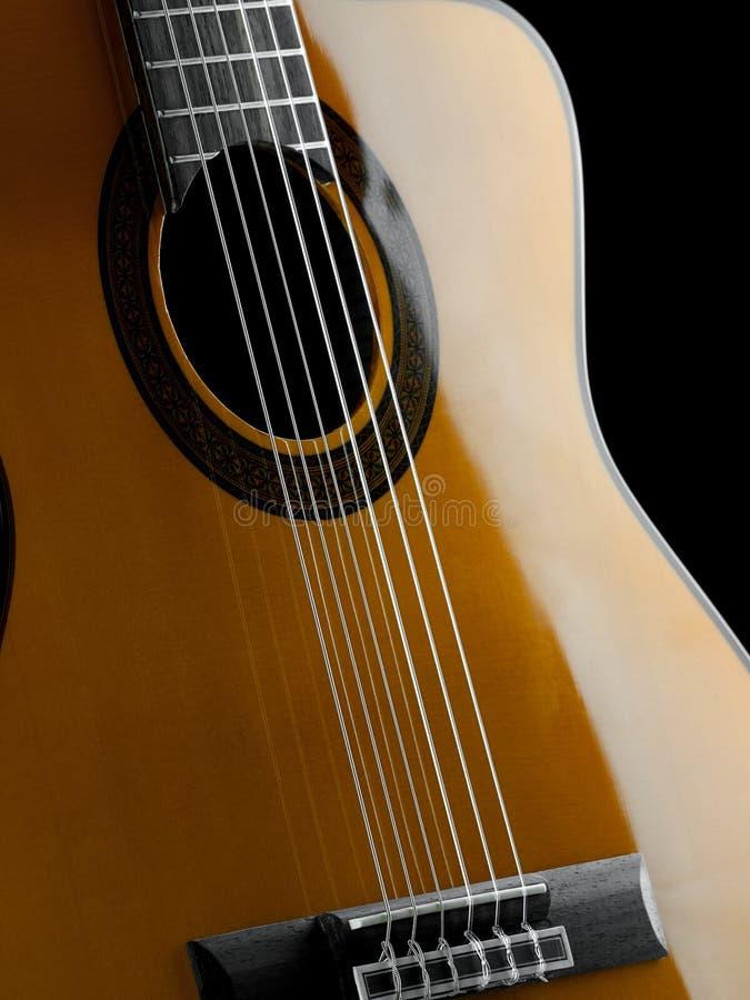 Plan rapproché classique de guitare