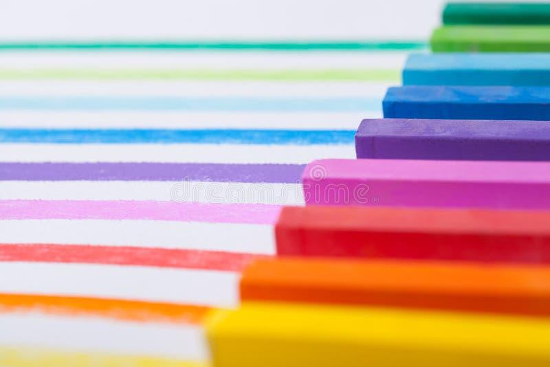 Plan rapproché coloré de pastels photos libres de droits