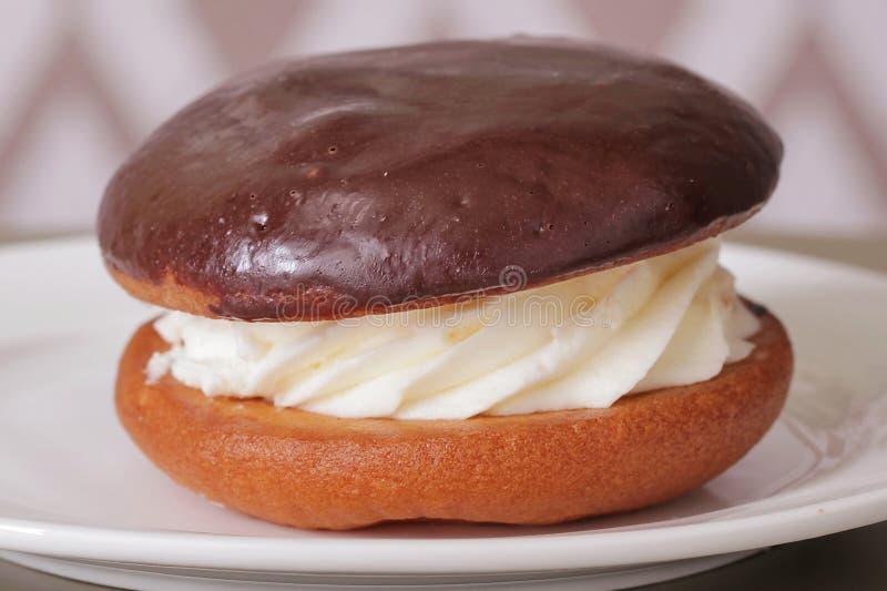Plan rapproché délicieux de dessert de gâteau images libres de droits
