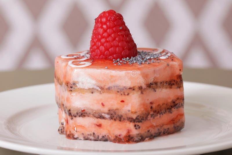 Plan rapproché délicieux de dessert de gâteau image libre de droits