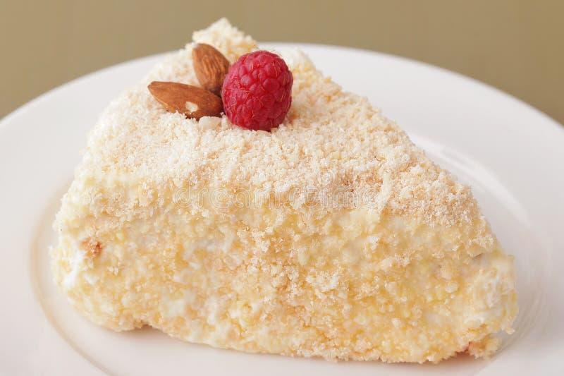 Plan rapproché délicieux de dessert de gâteau photographie stock