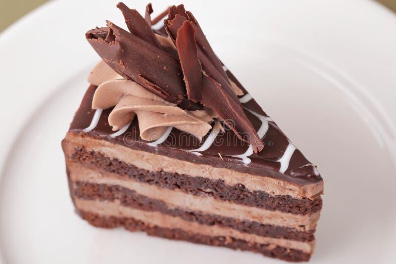 Plan rapproché délicieux de dessert de gâteau photo libre de droits
