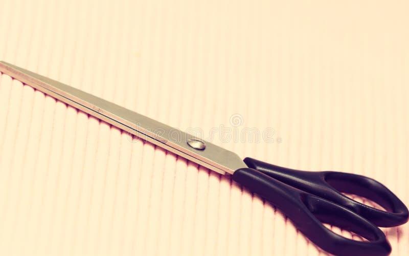 Plan rapproché détaillé des ciseaux de coiffure sur le fond rose image stock