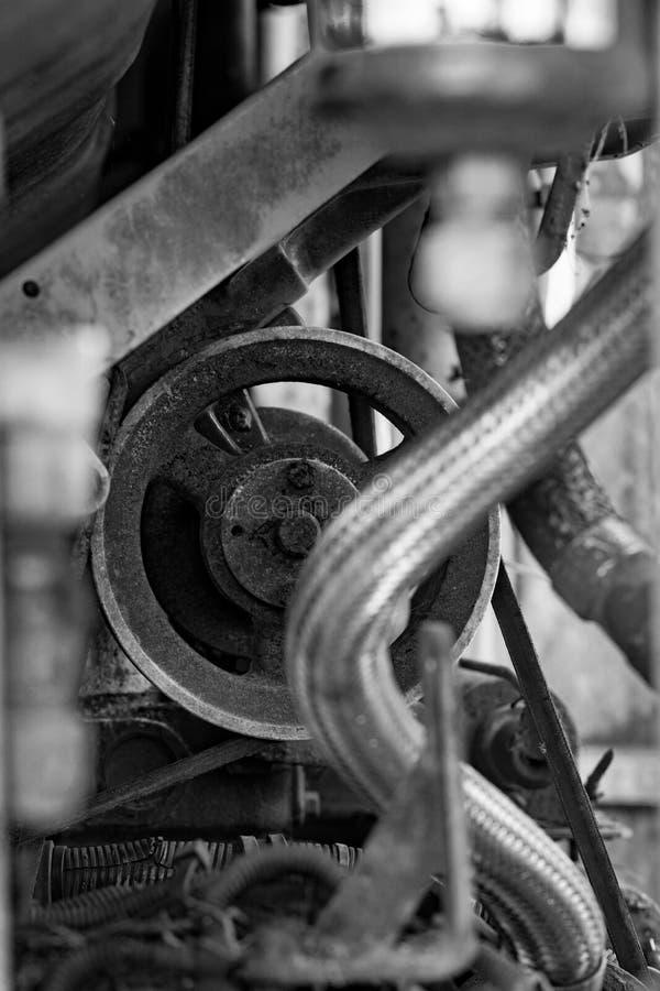 Plan rapproché d'élément de moteur photographie stock
