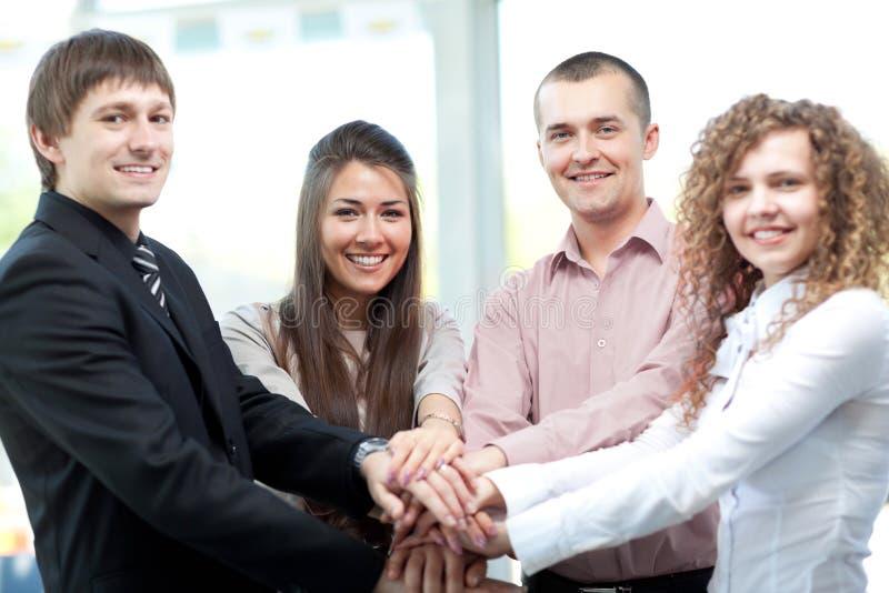Plan rapproché d'équipe d'affaires images stock