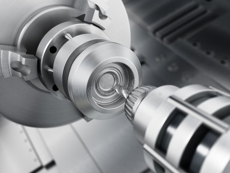 Plan rapproché d'équipement générique de perceuse de commande numérique par ordinateur illustration 3D illustration de vecteur