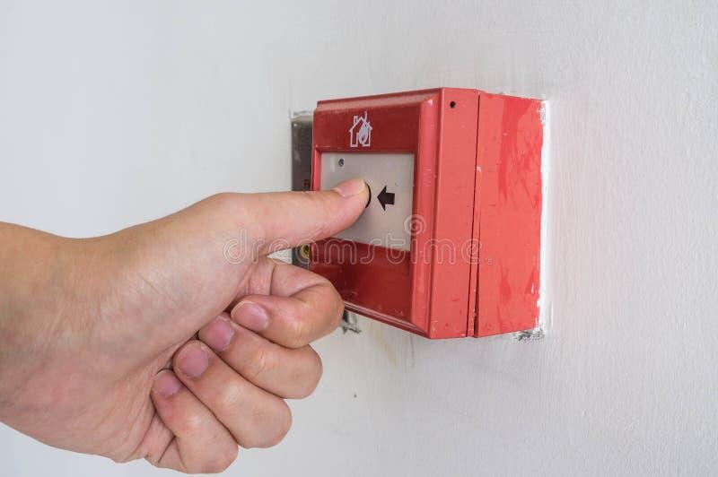Plan rapproché d'alarme d'incendie photo stock