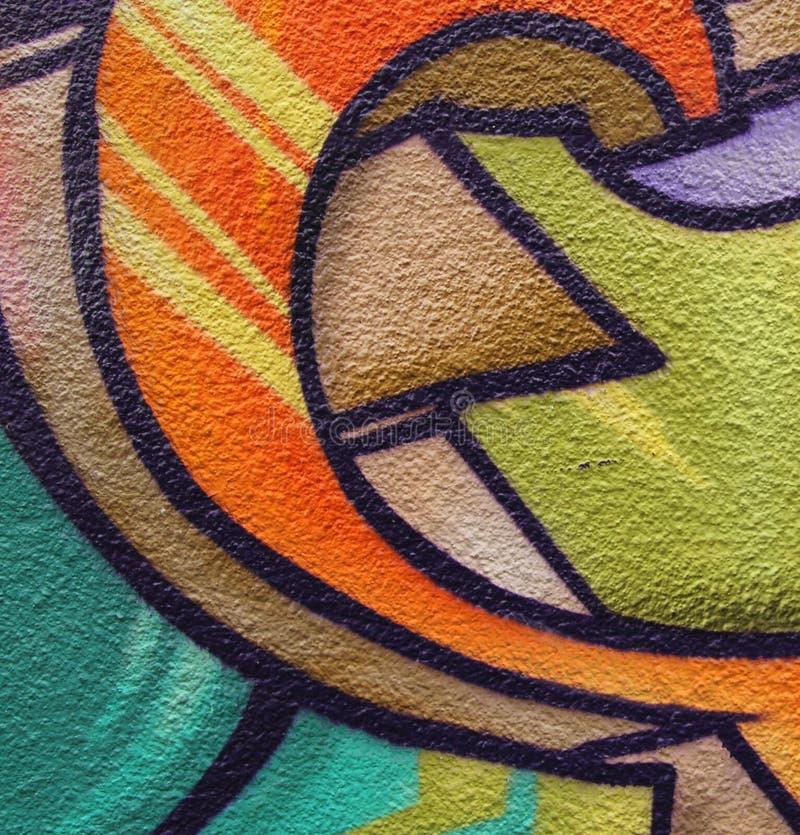 Plan rapproché d'extrémité de graffiti image libre de droits