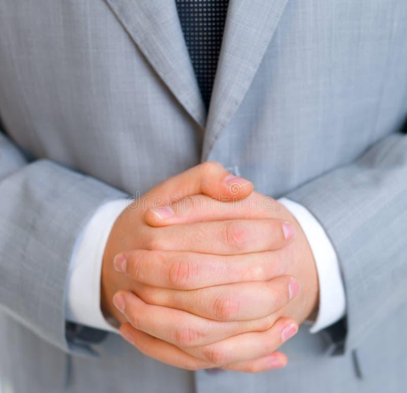 Plan rapproché d'homme d'affaires photo libre de droits