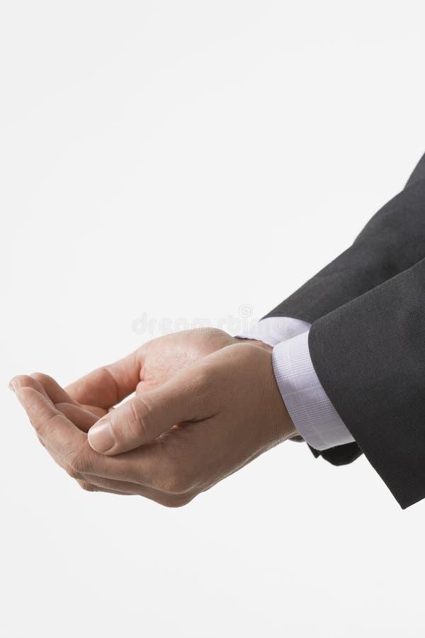 Plan rapproché d'homme d'affaires Cupping Hands photo libre de droits