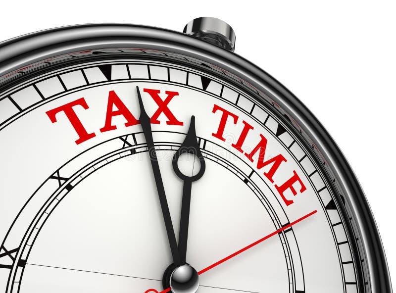 Plan rapproché d'horloge de concept de temps d'impôts illustration stock