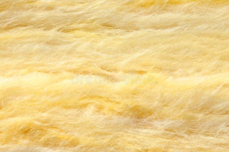 Plan rapproché d'isolation thermique de laine de laitier photo stock