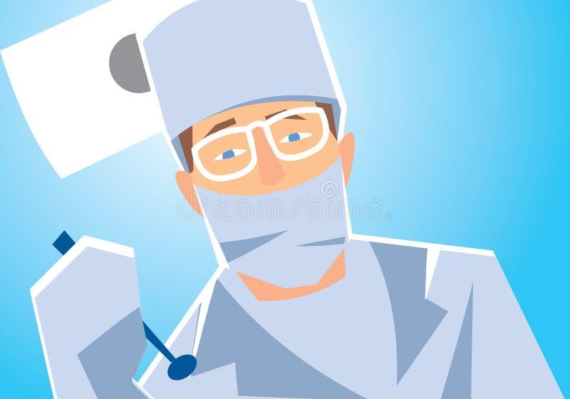 Plan rapproché d'un dentiste illustration libre de droits