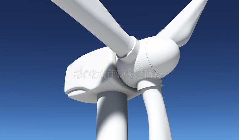 Plan rapproché d'un générateur de vent illustration de vecteur
