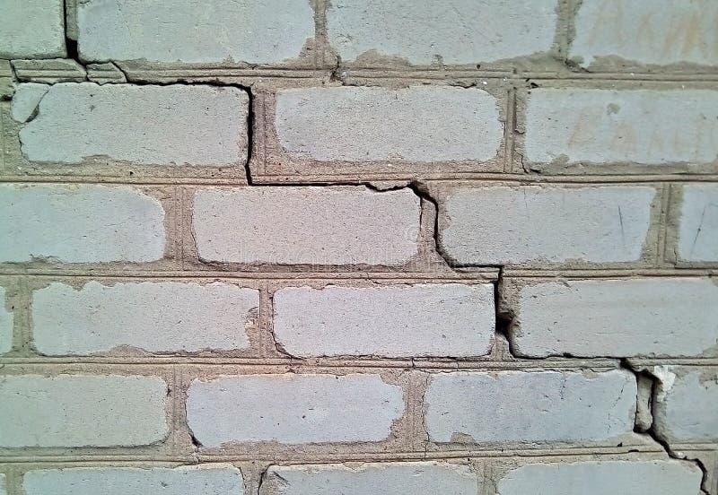 Plan rapproché d'un morceau de mur de briques blanc images libres de droits