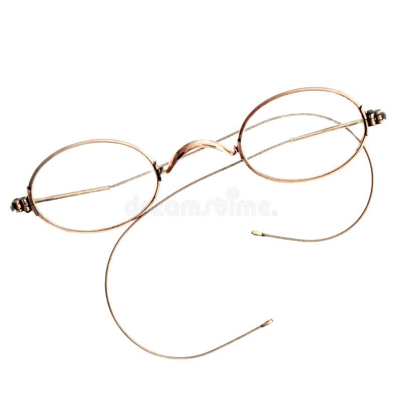 Plan rapproché d'une paire de lunettes avec le cadre rond photos stock