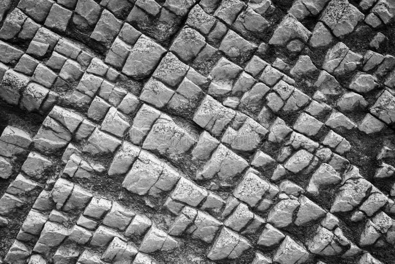 Plan rapproché d'une roche bizarre image libre de droits