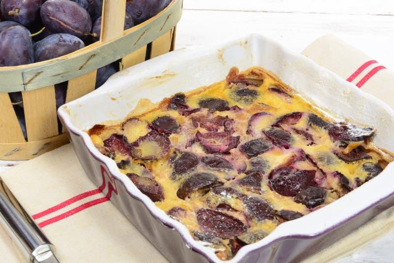 Plan rapproché d'une tarte de prune, image libre de droits