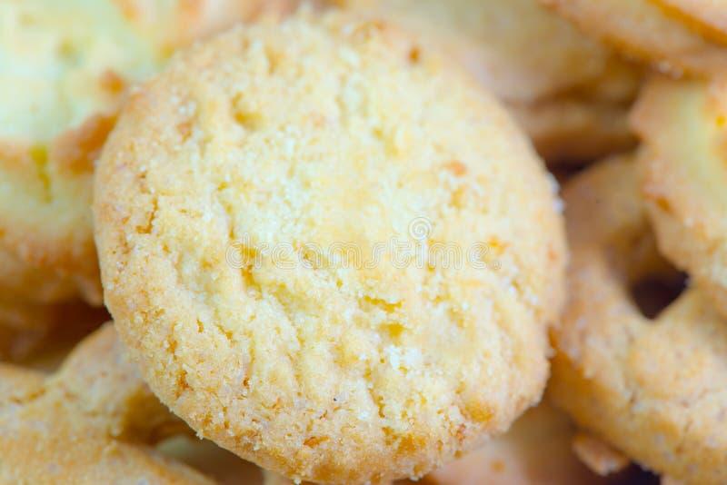 Plan rapproché danois de biscuits de beurre image libre de droits