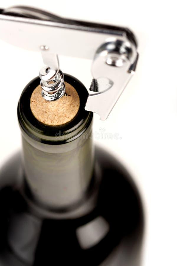 Plan rapproché de bouteille rouge de gémissement photographie stock libre de droits