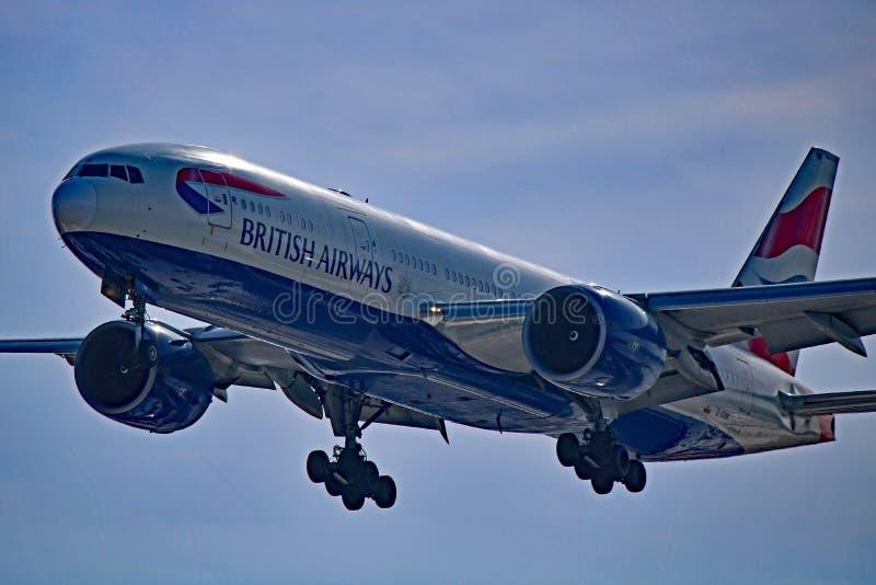 Plan rapproché de British Airways Boeing 777-200ER photographie stock libre de droits