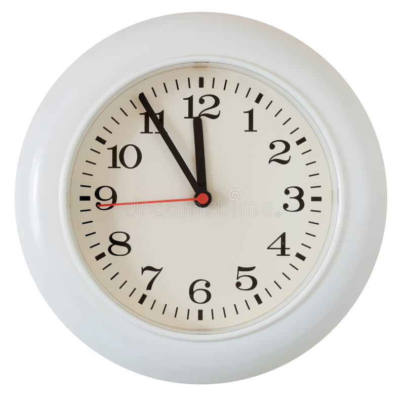 Plan rapproché de cadran d'horloge de mur photographie stock libre de droits