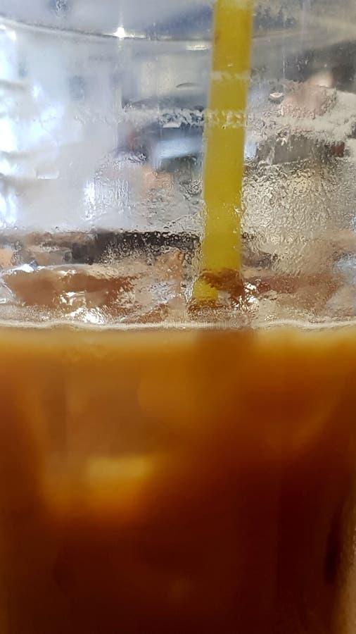 Plan rapproché de café de glace photos libres de droits