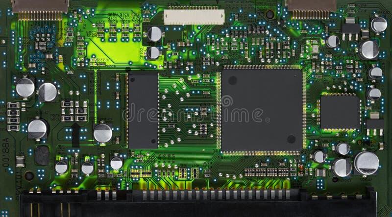 Plan rapproché de carte électronique image stock