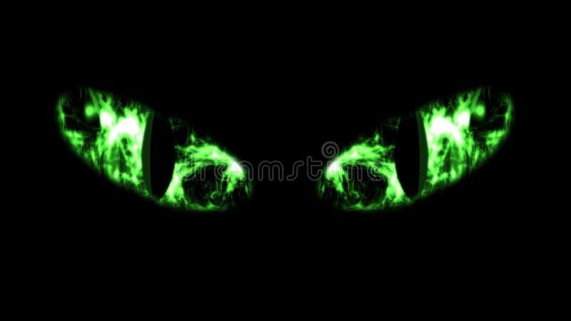 Plan rapproché de Cat Eyes noire sinistre illustration libre de droits