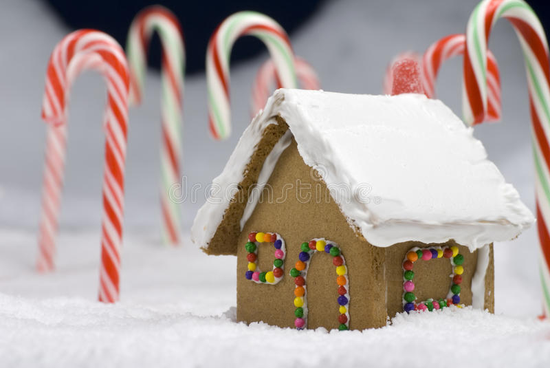 Plan rapproché de Chambre de pain d'épice de Noël photos stock
