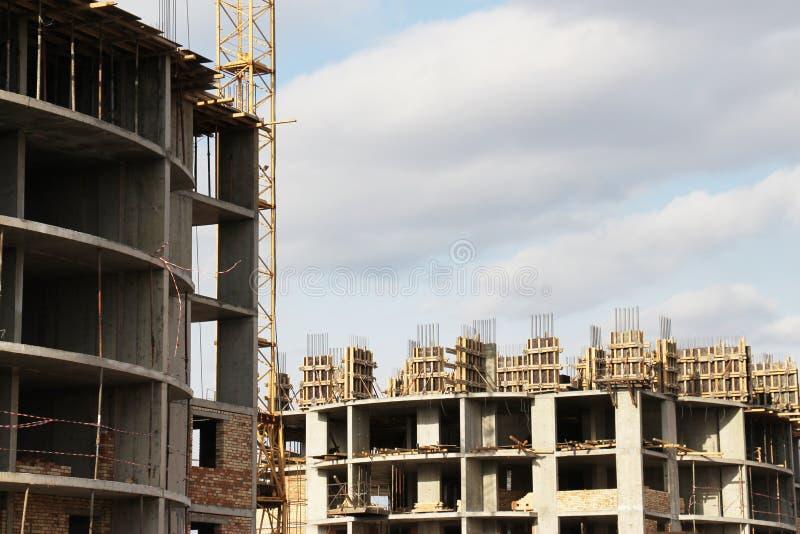 Plan rapproché de chantier de construction images libres de droits