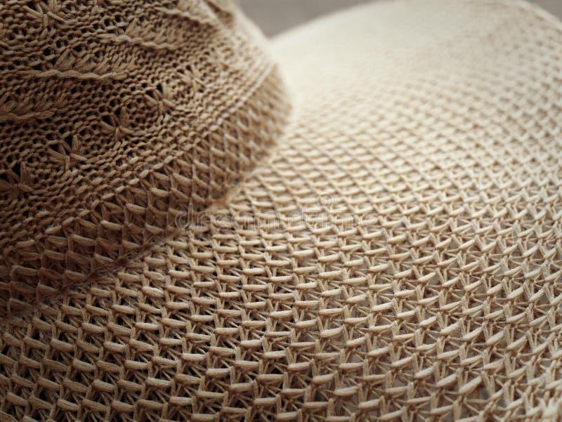 Plan rapproch? de chapeau de paille Image abstraite photo stock