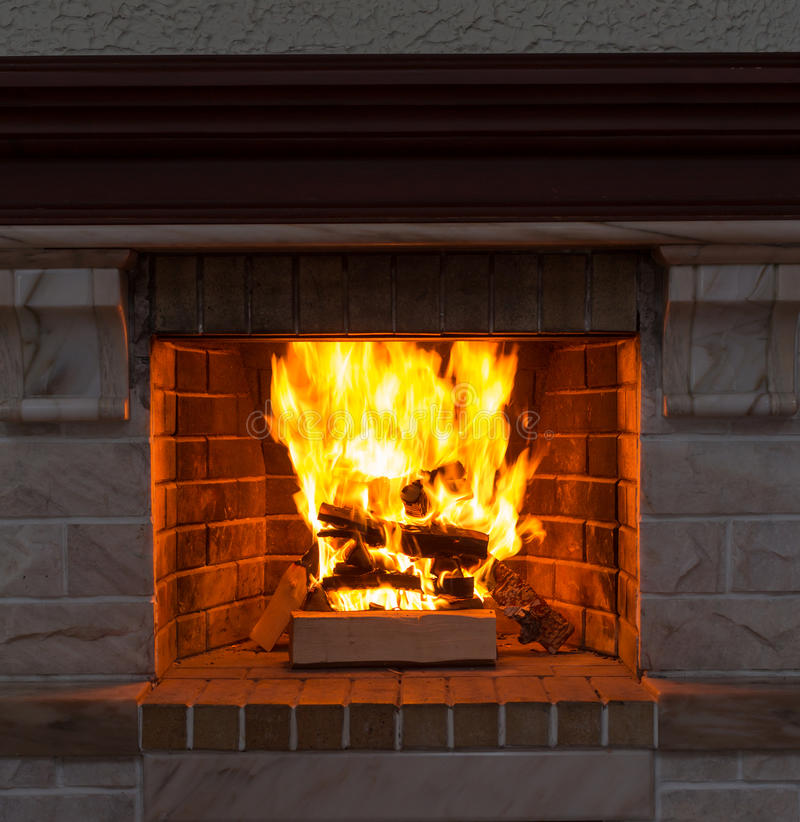 Plan rapproché de cheminée photos libres de droits